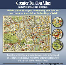 Greater London Atlas CD-ROM - early 1930s, includes map of underground railways