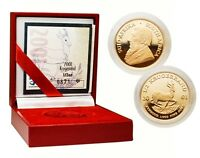 South Africa 2001 Krugerrand 1/2 oz Gold Proof Coin w/COA & Original Box
