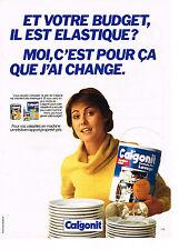 PUBLICITE  1982   CALGONIT  formule lavage pour lave vaisselle
