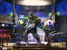Stan Lee & Eric Bana Signed 11x14 Photo PSA/DNA COA Incredible Hulk Auto Picture