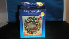 Christmas Holiday Village Battery operated Petite Berry Lights  21 lights