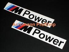 """2x 8.5"""" 21.6cm M Power decal sticker BMW M3 E92 E90 E46 M5 E60 E39 M6 Z4 Z3 F30"""