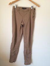 Dorothy Perkins Camel Size 6 Cotton Mix Skinny Jodphur Style Leggings<T3649