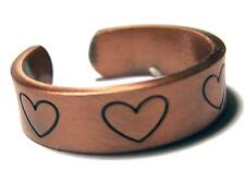 PURE HEAVY COPPER HEARTS RING health mens womens jewelry JL622 stress relief NEW