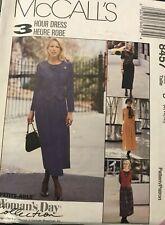 MCCALL'S PATTERN 8457 Misses' 3-HR DRESS MOCK VEST size 10, 12, 14 UNCUT
