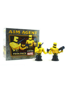 Bowen Designs A.I.M. Agent 2-Pack Mini Bust Set 900/1500 Marvel Sample New