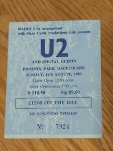 Rare U2 Ticket 08/14/1983 Dublin War Tour