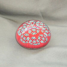 VINTAGE MURANO ITALY MILLEFIORI FLOWERS BALL PAPERWEIGHT WITH STICKER! #2