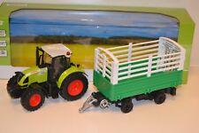 53cm B-WARE Kipper Traktor mit Anhänger Dickie Toys Claas Ares Set