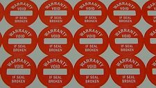 RED 120ct Round WARRANTY VOID Tamper Proof Stickers Security 1.2cm #M13