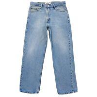 Levi's 550 Bleu Décontractée Jeans Coupe Droite Taille W34