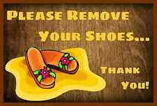 *PLEASE REMOVE SHOES* MADE IN HAWAII! METAL SIGN 8X12 MAHALO SANDALS FLIP FLOPS