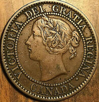 1859 CANADA LARGE CENT PENNY 1 CENT COIN