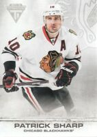 2011-12 Panini Titanium Hockey #51 Patrick Sharp Chicago Blackhawks