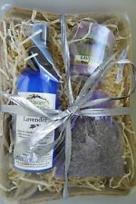 Natural Lavender Fragrance Set with Aromatherapy Mist, Yankee Candle & Flowers
