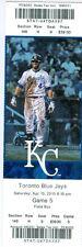 2013 Royals vs Blue Jays Ticket: Jose Bautista homer/ R.A. Dickey win