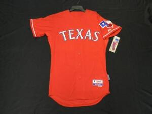 TEXAS RANGERS AUTHENTIC MLB JERSEY SIZE 56 3XL, COOL BASE MADE IN THE USA 6300