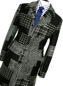LUXURY MENS GUCCI TOM FORD ITALIAN TARTAN HEAVY TWEED OVERCOAT COAT JACKET 42R