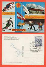 Orig.Postkarte  Olympische Spiele INNSBRUCK 1976 -  mit Orig.Autogramm // C  !!