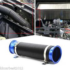 Car Multi Bend Air Intake Hose Turbo Cold Intake Duct Inlet Pipe Hose Tube Blue