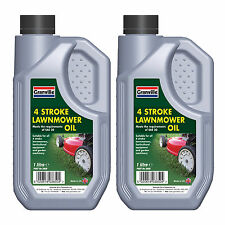 2 x Granville 4 Stroke Lawnmower Garden Machinery Oil Lubricant Fluid SAE 30 1L