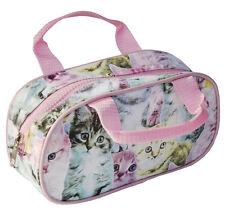 CUTE KITTEN PENCIL CASE MAKE UP BAG TOILETRY BAG CAT ZIP UP WATERPROOF BAG