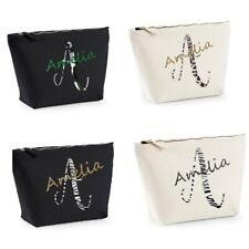 Personalised Initial/Name Essentials Canvas Accessory bag Perfiect Gift