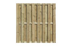 Bohlenzaun Lolland gerade 180x180 cm kdi grün Dichtzaun NUR ABHOLUNG