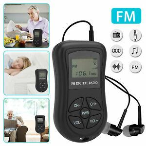 Mini Portable FM Radio Stereo LCD Digital Receiver w/ Earphone Noise Reduction