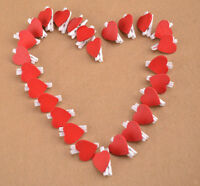 Mini 20Pcs Wooden Red Heart  Fancy Pegs Photo Paper Clips Helpful Decor Craft