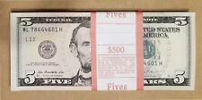 20 PCS NEW UNC $5 Five Dollar Bills Sequential Order FULL BUNDLE $100 (2013)