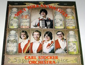 "CARL STOCKER SLOVENIAN POLKA LP ""SPICY POLKAS"" FANTASTIC BUTTON BOX ALBUM"