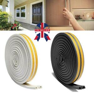5M Rubber Seal Weather Strip Foam Sticky Tape Door Window Draught Excluder