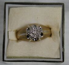 14K Yellow Gold Diamond Cluster Ring .70ctw Size 10 ½  Ring