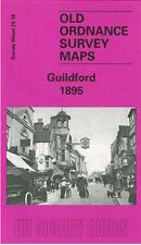 OLD ORDNANCE SURVEY MAP GUILDFORD STAG HILL LONDON ROAD CHARLOTTEVILLE 1895
