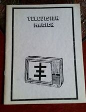 Television Magick, Temple ov Psychick Youth TOPY, rare 1st edition, unobtainable