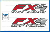 Set of 2: 2009 Ford F250 FX4 OffRoad Decals Stickers - F Super Duty Off Road Bed