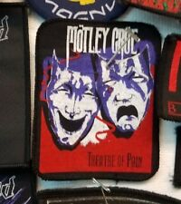 MOTLEY CRUE PATCH  COLLECTIBLE VINTAGE WOVEN  ENGLISH PICTURE 80'S PATCH