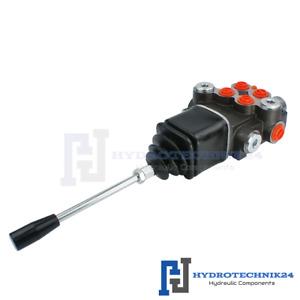Handsteuerventil Handhebelventil Hydraulik 40L 2fach 2xDW + Kreuzhebel