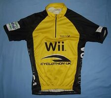 SCIMITAR / Wii - MENS - 1/2-zip yellow bike / cycling Shirt / Jersey. Size: S