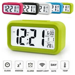 LED Digital Alarm Clock Snooze Mute Calendar Desktop Electronic Desktop Clock