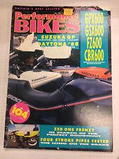 Performance Bikes Magazine GPX600 GSX600 May 1983 032817nonR