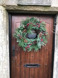 Forest Wreath . Pine,Berries, Cones,Lovely Natural Looking Wreath. 60cm Free P+P