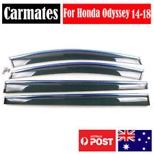 Weather Shield Visor For Honda Odyssey 14-18 4 Doors double sided tape Clips