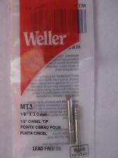 "Weller Chisel Shaped Replacement Tip #MT3  1/8"" Diameter SP23 Solder iron NEW"