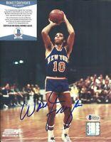 HOF Walt Clyde Frazier Signed 8x10 Auto Photo Beckett BAS COA New York Knicks