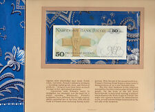 Most Treasured Banknotes Poland 1986 50 Zlotych P 142d UNC Birthday EY0919920