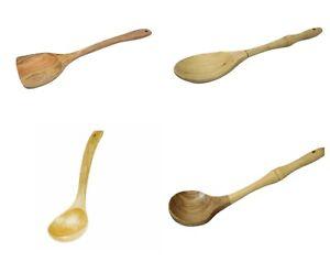 21x 8.5cm Wooden Server Soup Spoon handcrafted Ladle Wood Scoop
