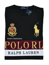 Polo Ralph Lauren Black Embroidered Big Pony Crest #3 Long Sleeve T-Shirt New