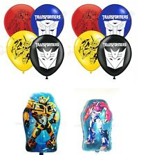 Transformers Mayflower Products Bumblebee 6th Birthday Party Supplies Balloon Bouquet Decorations Anagram